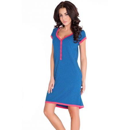 Koszula Ciążowa Model TM.5038 NavyDn-nightwear
