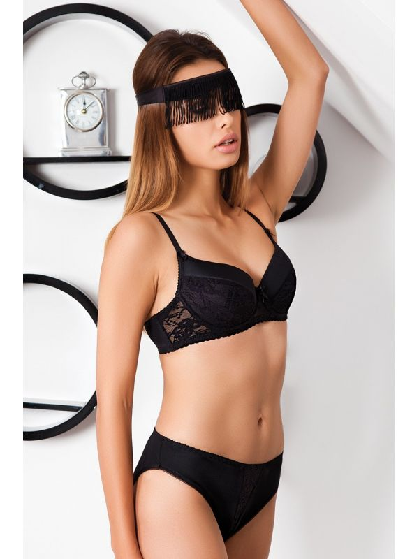 Biustonosz Usztywniany Model Ingrid Black