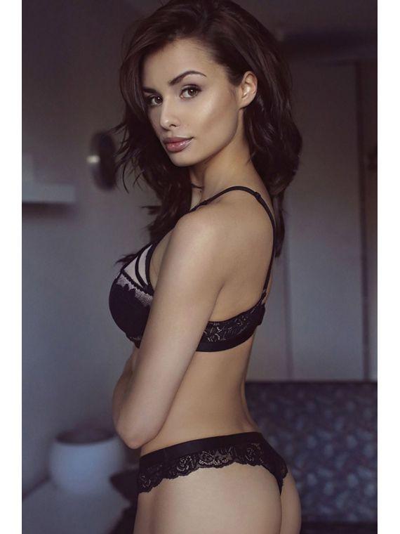 Biustonosz Usztywniany Model Solange Black