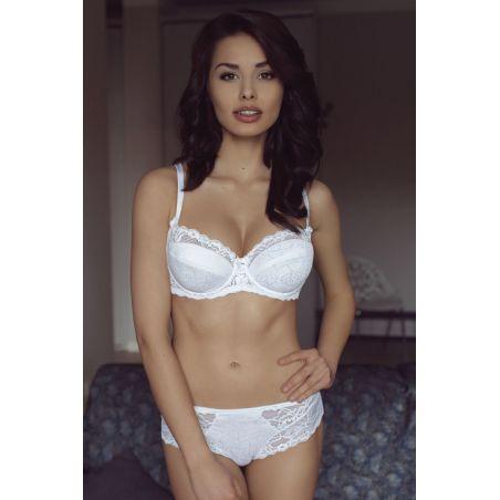 Biustonosz Usztywniany Model Margot full cup White