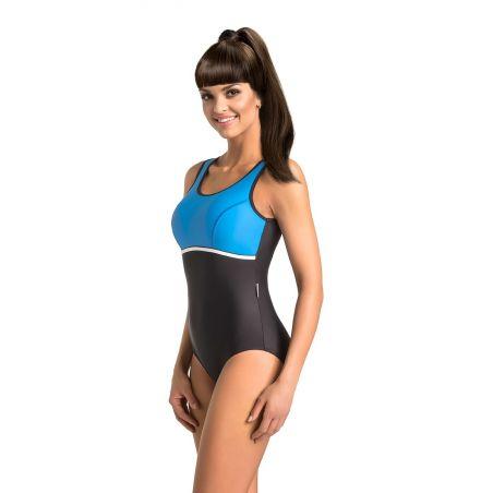 Kostium jednoczęściowy Model Marietta Black/Blue