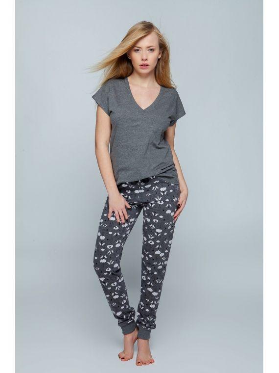 Piżama Damska Model Adele Grey