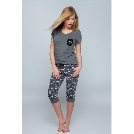 Piżama Damska Model Paris Grey