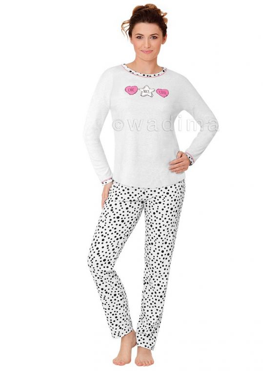 Piżama Damska Model Veronika 104375 dł.ręk. Perła Melange