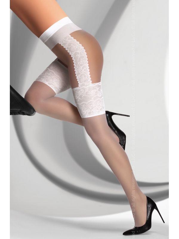 Rajstopy Model Agniska White 20 DEN White