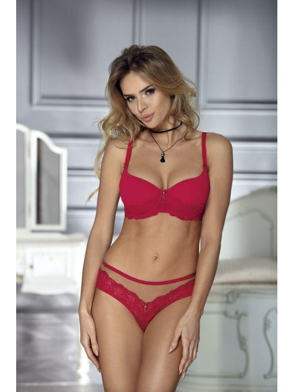 Biustonosz Usztywniany Model Erika Red
