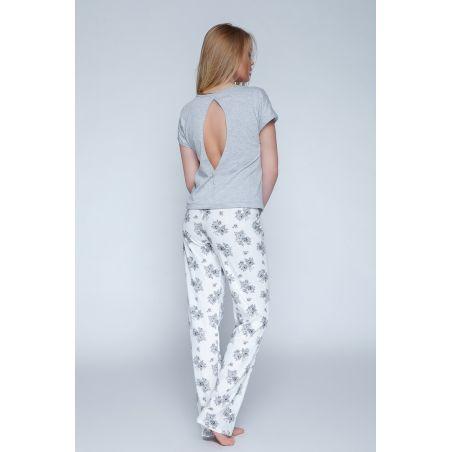 Piżama Damska Model Lady Grey/Ecru