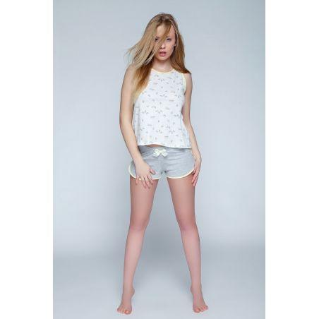 Piżama Damska Model Bird Ecru