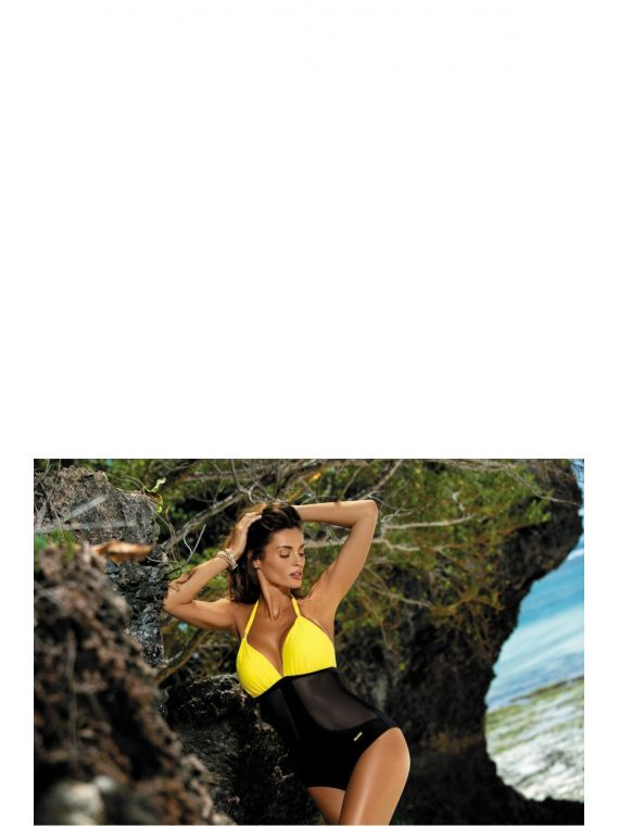 Kostium Kąpielowy Model Priscilla Banana-Nero M-428 Yellow/Black