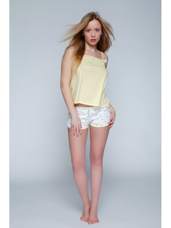 Piżama Damska Model Fly Yellow