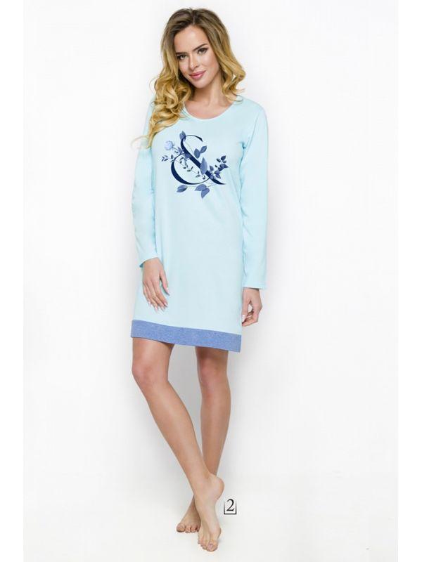 Koszula Nocna Model Viva 1030 AW/18 K02 Sky BlueTaro