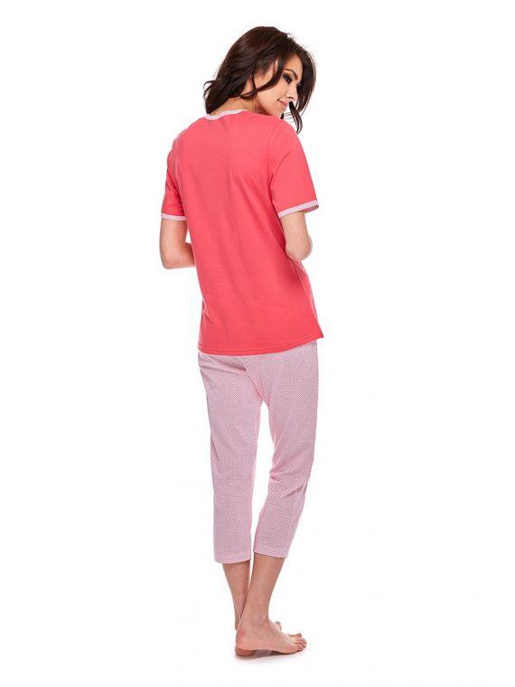 Piżama Damska Model Eva 310 kr.rękaw Red