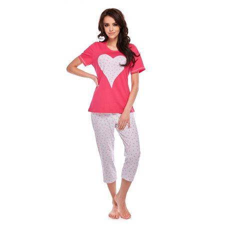 Piżama Damska Model Anabelle 308 kr.rękaw Fuksja