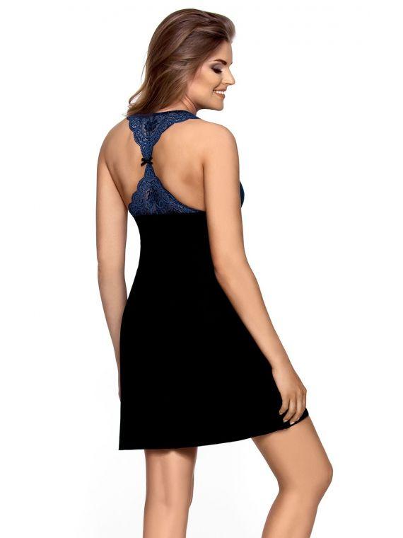 Koszula Nocna Model Rossi Black/ChaberBabella