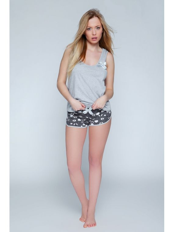 Piżama Damska Model Caroline Grey/Grafit