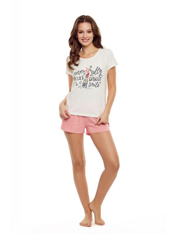 Piżama Damska Model Devine 35830-01X Ecru/Pink