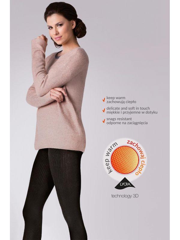 Rajstopy Model Warm up! Fashion 200 Den code 412 Nero