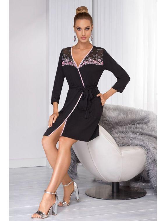 Szlafrok Damski Model Regina Black
