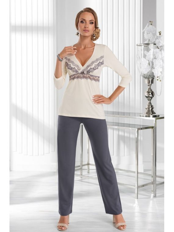 Piżama Damska Model Aura Ecru
