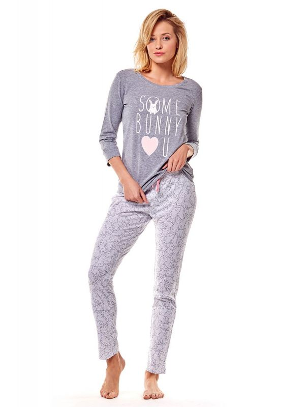 Piżama Damska Model Mia 36163-90X Grey