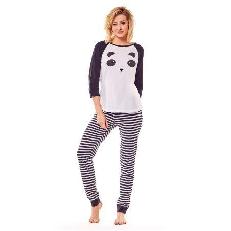 Piżama Damska Model Milky 36168-01X White/Black
