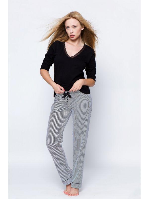 Piżama Damska Model Monique Black