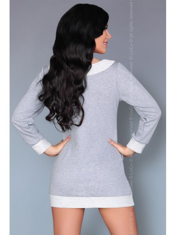 Koszula Nocna Model Maristela GreyLivia Corsetti Fashion