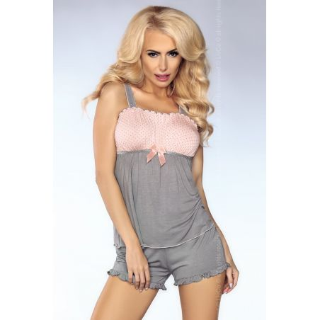 Piżama Damska Model Misha 102 Pink/Grey