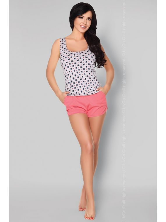 Piżama Damska Model Nekesa Grey/Coral