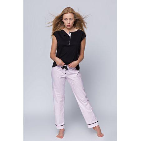 Piżama Damska Model Bianka  Black/Pink