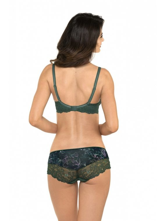 Biustonosz Semi-Soft Model Rachel B3 Black/Green