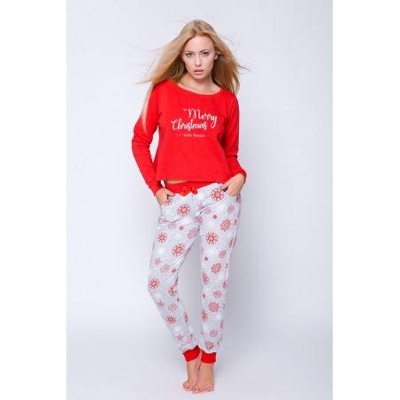 Piżama Damska Model Gifti Red