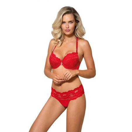 Biustonosz Push-Up Model Sefia Red