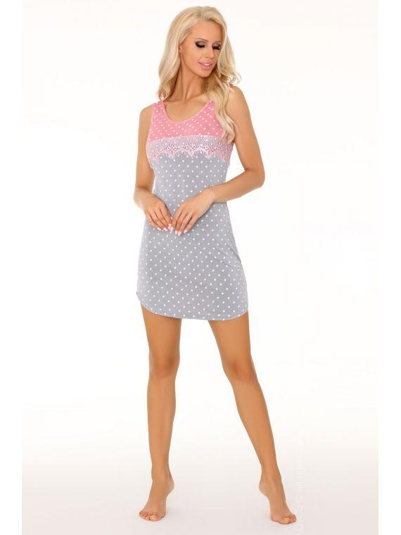 Koszula Nocna Model Tricianna Grey/CoralLivia Corsetti Fashion