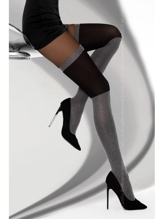 Rajstopy Model Megia 40 den Melange/Nero