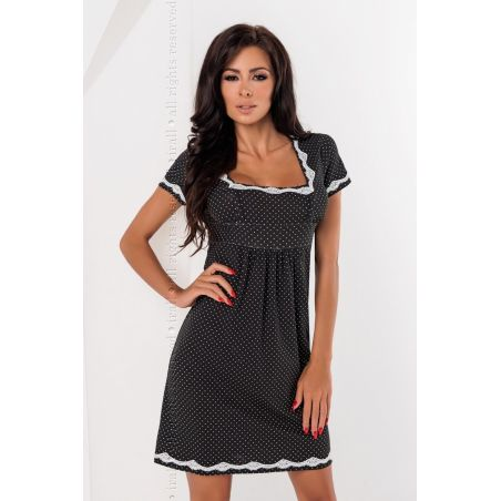 Koszula Nocna Model Luba BlackIrall