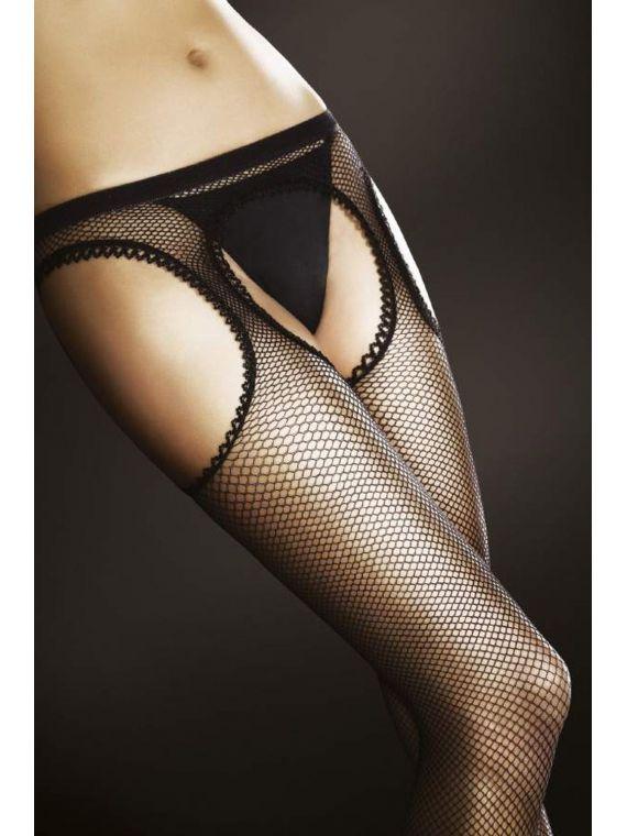 Rajstopy kabaretki Model Passion Black