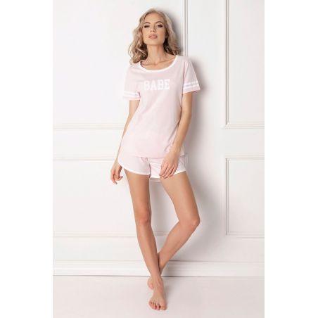 Piżama Damska Model Babe Short Pink