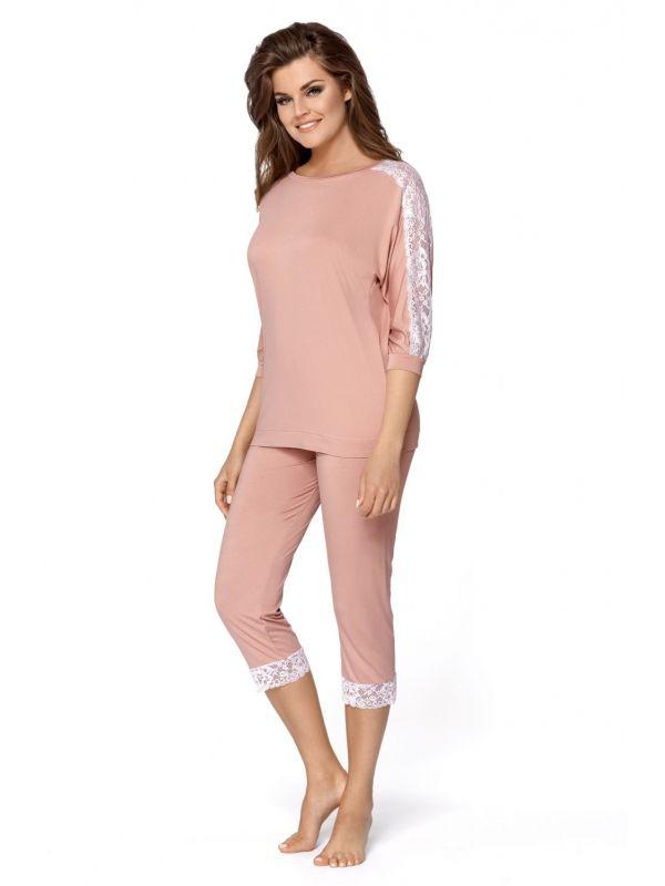 Piżama Damska Model Toscana Cynamon