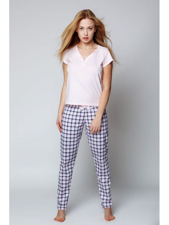 Piżama Damska Model Penelope Pink/Navy