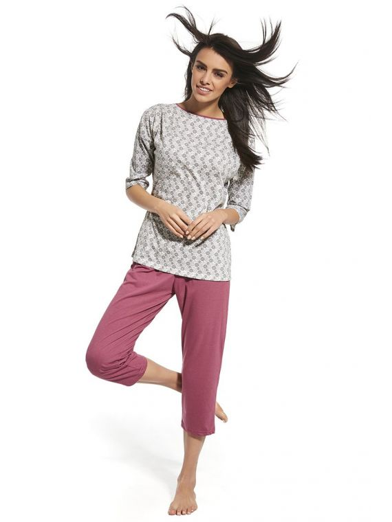 Piżama Damska Model Iga 147/157 Grey/Pink