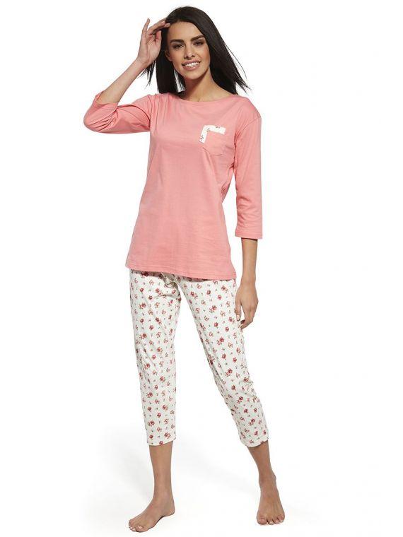 Piżama Damska Model Betty 602/132 Ecru/Pink