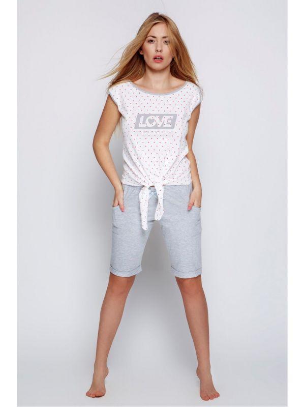 Piżama Damska Model Polina White/Grey