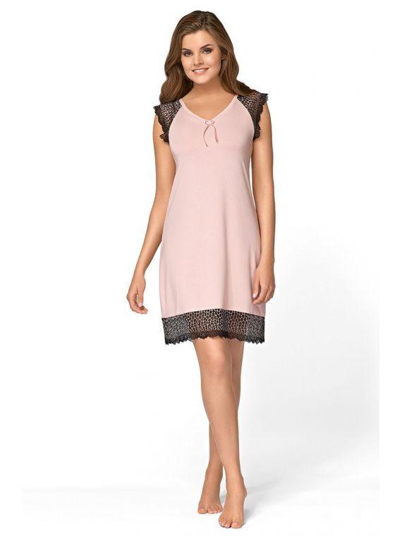Koszula Nocna Model Tess Powder PinkBabella