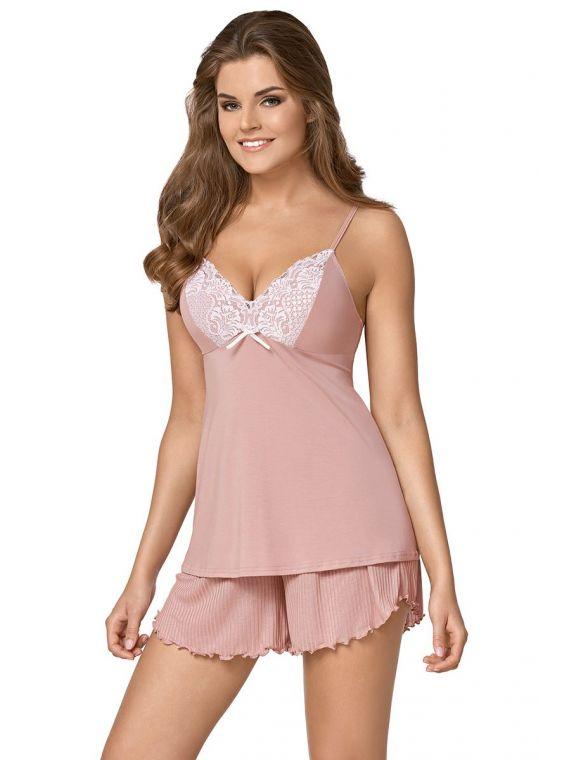 Piżama Damska Model Sarina Karmel