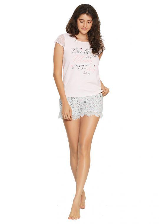 Piżama Damska Favorite 38049-03X Pink/Grey - Henderson
