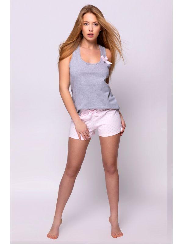Piżama Damska Constance Grey/Pink - Sensis