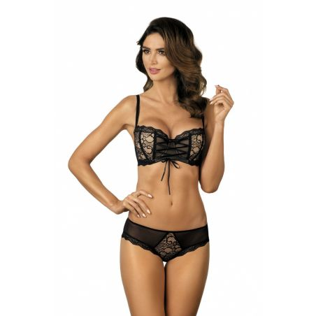Biustonosz push-up Model Dita B1 Black/Beige