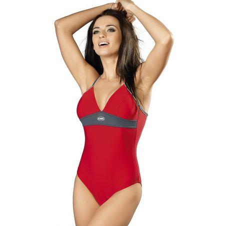 Kostium Kąpielowy Model Rosanna I Red/Grey