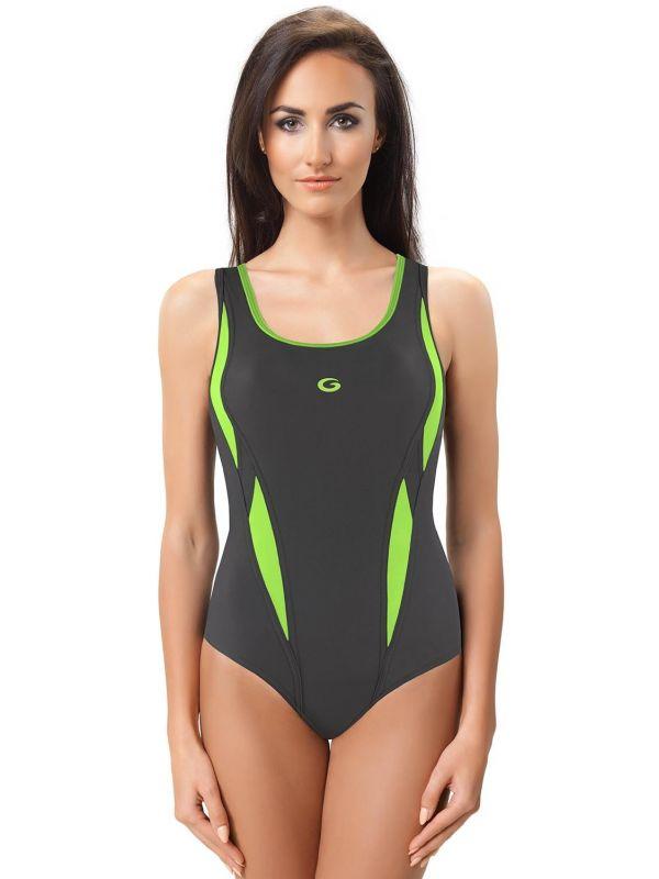 Kostium Kąpielowy Model Aqua II Grafit/Green